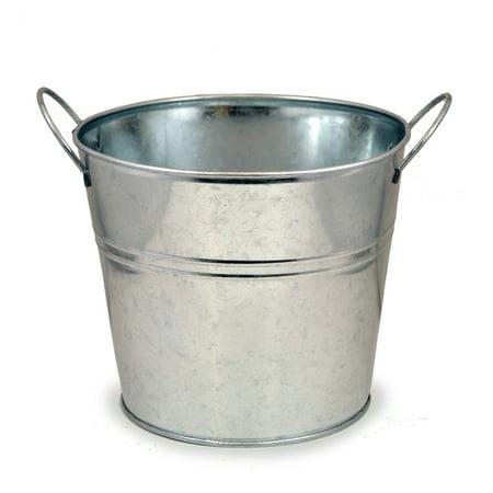 Jillian Classic Round Metal Bucket with Side Handles 7in ()