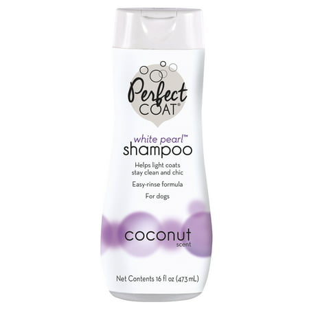 - Perfect coat white pearl coconut scented dog shampoo, 16-oz bottle