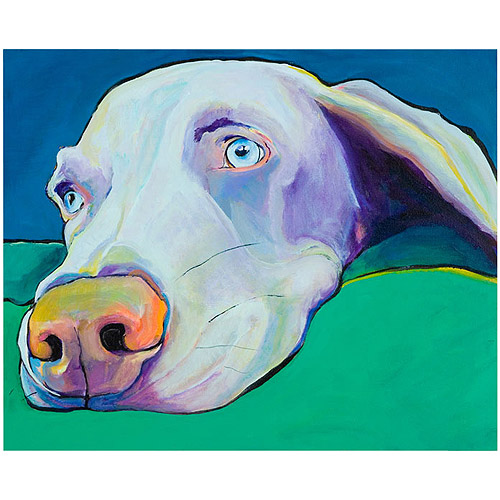 "Trademark Art ""Fritz"" Canvas Art by Pat Saunders-White"