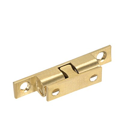 Cabinet Door Closet Brass Double Ball Catch Tension Latch 60mm Length Gold Tone