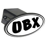 """Obx Euro Oval, Outer Banks Nc North Carolina 2"""" Oval Tow Trailer Hitch Cover Plug Insert"""