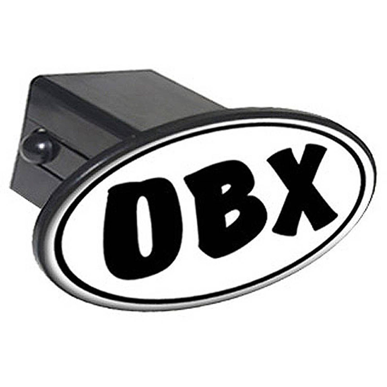 "Obx Euro Oval, Outer Banks Nc North Carolina 2"" Oval Tow Trailer Hitch Cover Plug Insert"
