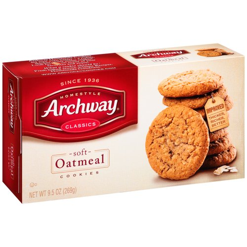 Archway Classic Soft Oatmeal Cookies, 9.5 oz