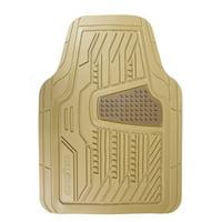 Goodyear All Weather Custom Fit Rubber Floor Mats, Beige 4 Piece