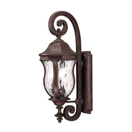 Wall Sconces 3 Light With Walnut Patina Finish Candelabra Bulbs 10 inch 120 (Weathered Patina 3 Light)