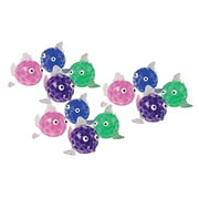 BULK - 12 Cute Fish Water Bead Filled Squeeze Stress Balls - Squishy Toy - Sensory Fidget (Random Colors)