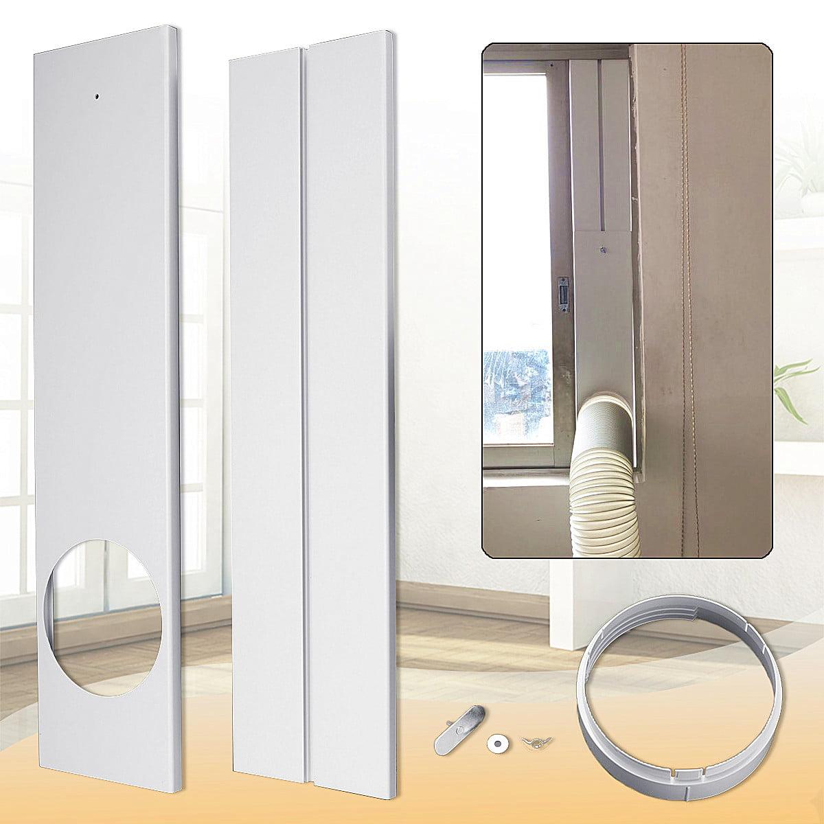 "26~47"" Adjustable Length Window Kit Plate Set 6"" Diameter Adaptor For Portable Air Conditioner"