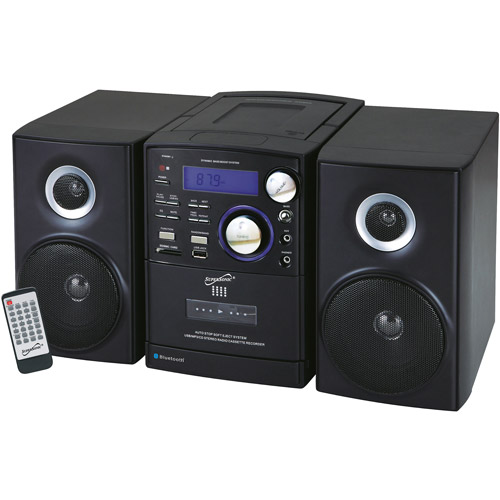 Supersonic Portable Bluetooth MP3/CD Micro Stereo System