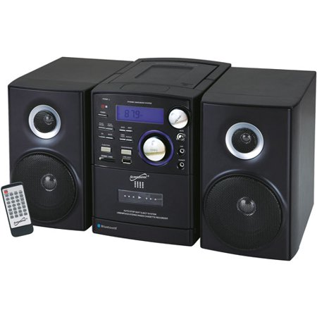 Supersonic Portable Bluetooth MP3 CD Micro Stereo System by
