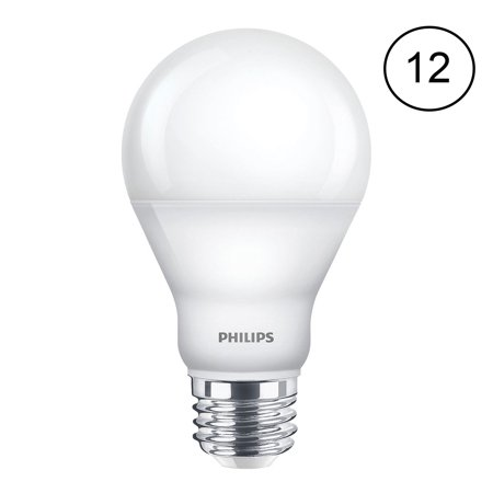 Philips Dimmable Efficient 9.5W A19 Warm Glow 60W Replacement LED Bulb (12 Pack) - Omni Glow