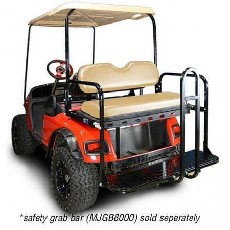 Madjax Genesis 150 Rear Flip Seat Kit for EZGO TXT Golf Carts - Color on
