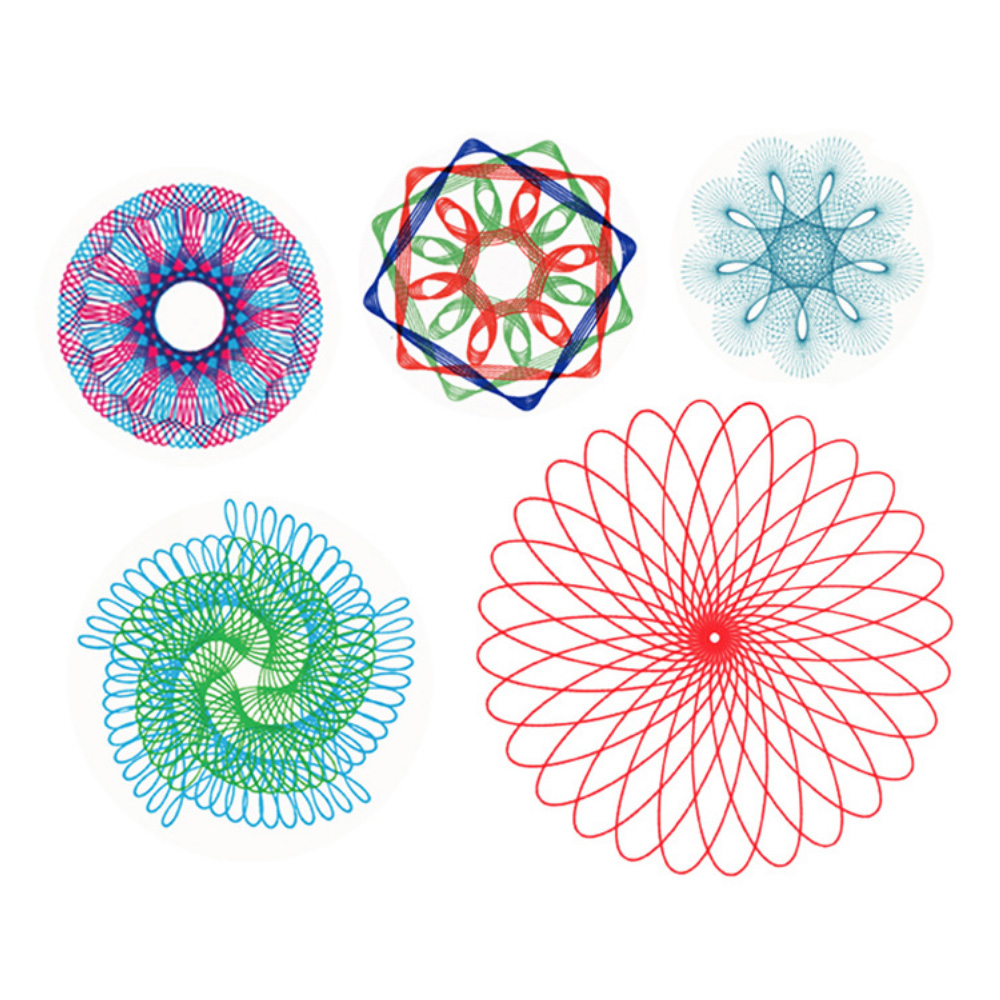 SPIRAL ART STENCIL Drawing Line Tool Ruler Geometric Stationery for Students