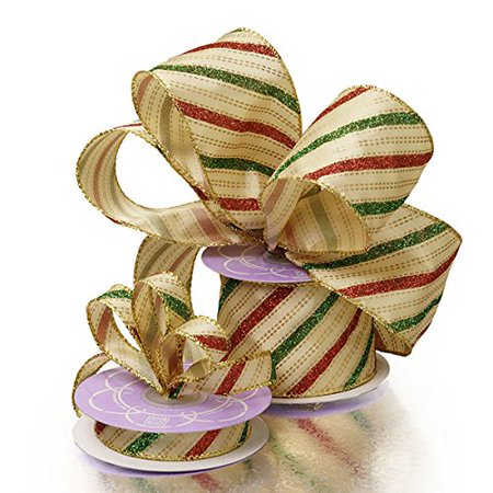 Holiday Wired Christmas Tree Ribbon - 2