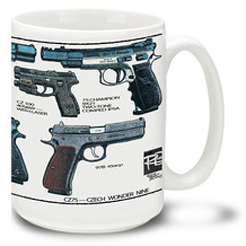 Cuppa 15-Ounce Coffee Mug with CZ75s