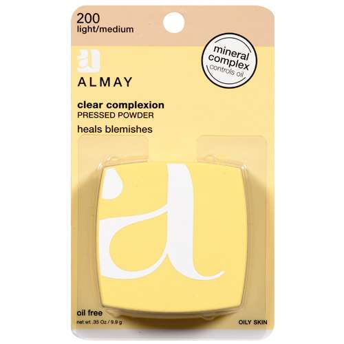 Almay Light/Medium 200 Oily Skin Makeup Powder .35 oz