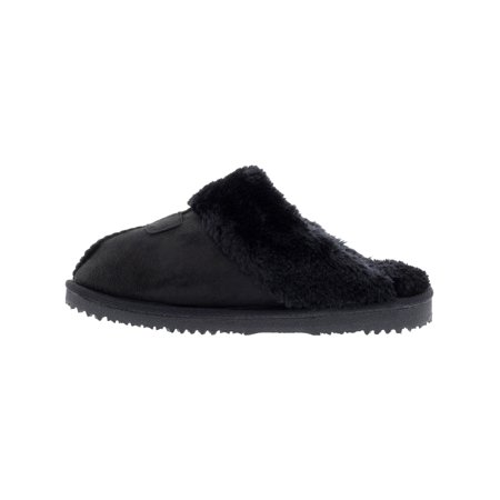 Kreated Equal Ultra Cozy Faux Fur Colette Slipper / Clog - 7M - Black