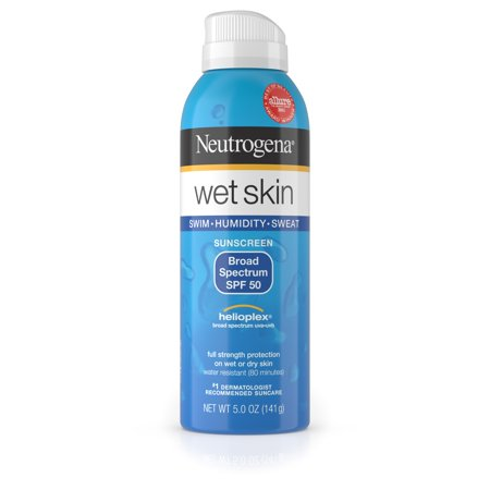 Neutrogena Wet Skin Sunscreen Spray Broad Spectrum SPF 50, 5