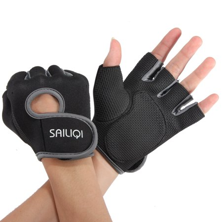 Sports Fitness Training Weightlifting Slip Boating Half Finger Glove  - image 1 of 8