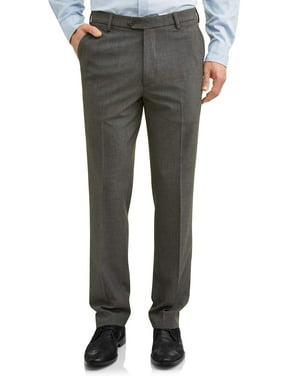 George Men's Premium Comfort Stretch Flat Front Suit Pant
