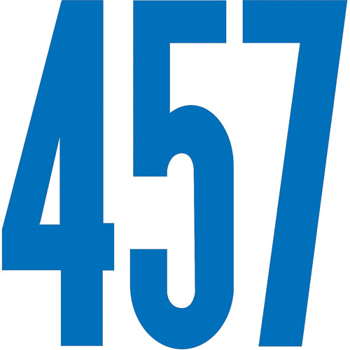 "Dural Decal Vinyl Numbers, 6"", Gothic"