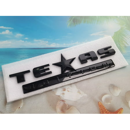 - TEXAS Edition Emblem Fender Door Badge Decal Chevy Ford Dodge 1500 ABS Black