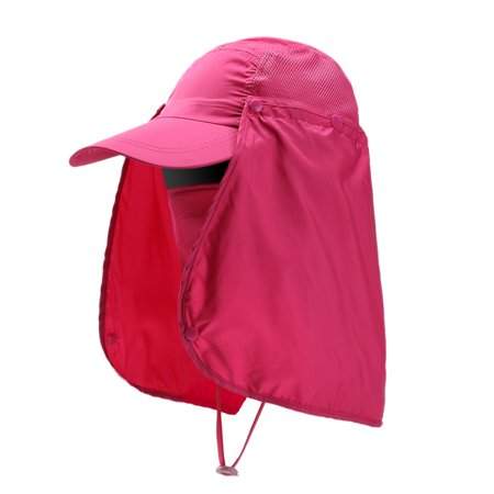 33b5e55d80496 Men Women Outdoor Sport Fishing Hiking Hat UV Protection Face Neck Flap Sun  Cap - Walmart.com