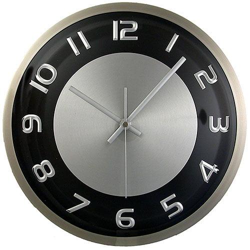 Hastings Brushed Aluminum Wall Clock