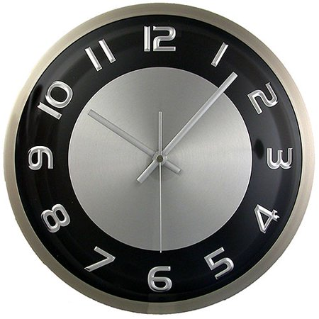 Hastings Brushed Aluminum Wall Clock