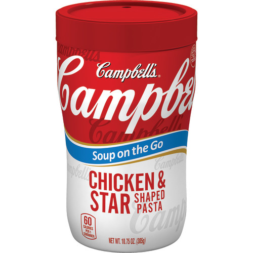 Campbell's Soup on the Go Chicken & Star Shaped Pasta Soup, 10.75 oz.
