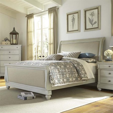 Liberty Furniture Harbor View Iii Queen Sleigh Bed In Dove