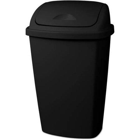 sterilite 13 2 gallon swingtop wastebasket multiple colors available in case of 4 or single. Black Bedroom Furniture Sets. Home Design Ideas