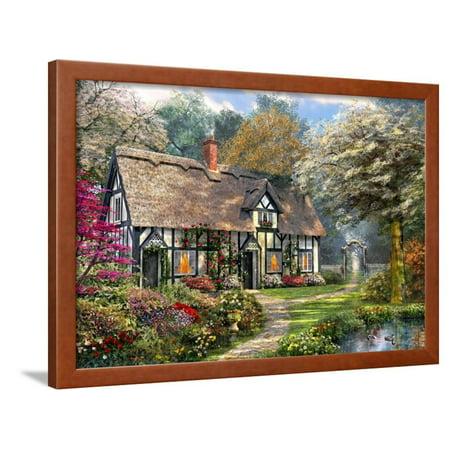 Victorian Cottage Gardens - Victorian Garden Cottage Framed Print Wall Art By Dominic Davison