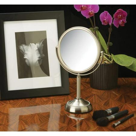 Tabletop Two-Sided 1x-10x Swivel 6-inch Mirror - Nickel Finish ()