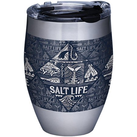 Tervis 12 oz. Stainless Steel Salt Life Icons Wine Tumbler One Size Navy blue/white