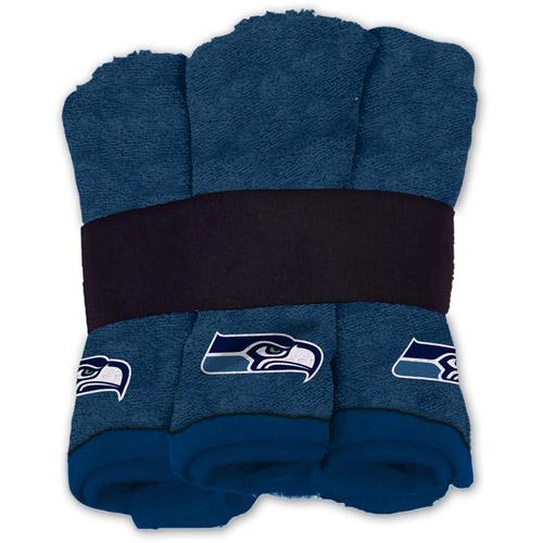 NFL Wash Cloth Set, 6pk, Seattle Seahawks