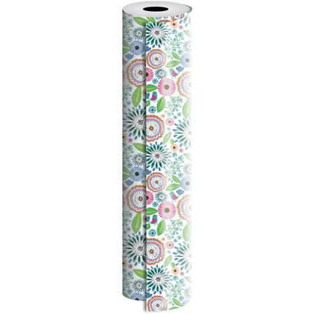 Jillson & Roberts Bulk Gift Wrap, Pretty Petunia, 1/2 Ream 417' x 30