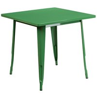 """Flash Furniture Square Metal Indoor Table, 31.5"""", Orange"""
