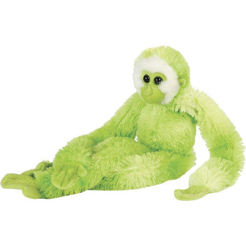 M411 - Green Gibbon Hanging Plush By Wild Republic