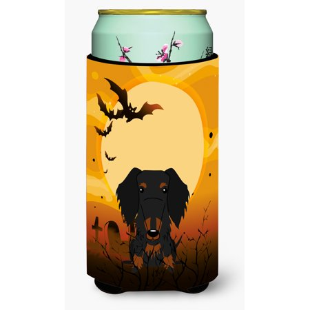 Halloween Wire Haired Dachshund Black Tan Tall Boy Beverage Insulator Hugger BB4393TBC