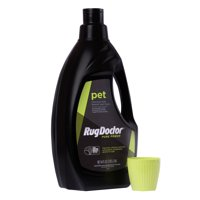 Rug Doctor Pet Formula Carpet Cleaner (64 oz.); Super Concentrated Pro-Enzymatic Formula with Blue Wave Scent Removes Pet Stains, Odor and Deters Remarking; Works in All Leading Deep Cleaning Machines