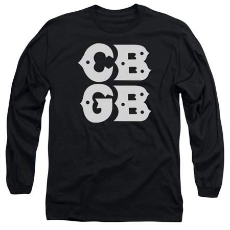 Cbgb - Stacked Logo - Long Sleeve Shirt - Small