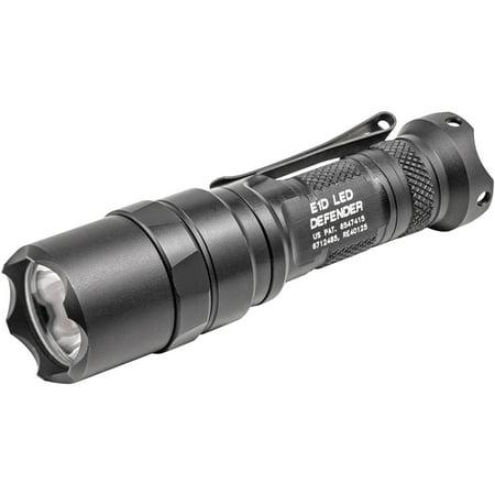 Defender Led - Surefire E1D LED Defender Flashlight, Dual-Output LED, 300/5 Lumens, Constant-On Click-Type Tailcap Switch, Black