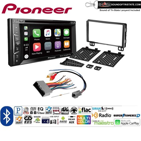 Pioneer AVH-1440NEX Double Din Radio Install Kit with Apple CarPlay, Bluetooth, HD Radio Fits 2003-2006 Expedition, 2004-2006 Navigator + Sound of Tri-State Lanyard - Navigator 900 Bluetooth
