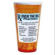 Novelty Over The Hill Pharmacy 16 Oz Reusable Plastic Party Drinking Cup