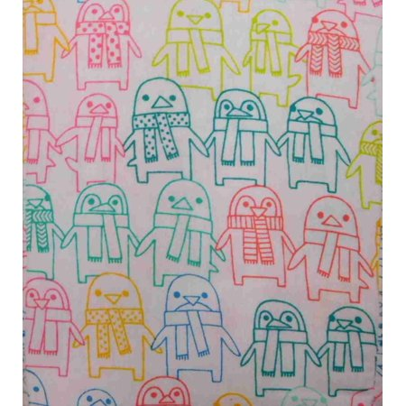 Pillowfort Flannel Sheet Set Colorful Penguin Full Bed Size Sheets ...