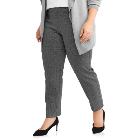 2c72e117ee7 Terra   Sky - Women s Plus Straight Leg Stretch Woven Pants - Walmart.com