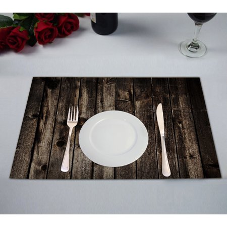 GCKG Rustic Old Barn Wood Placemats 12x18 inches Set of 2 - image 1 of 1