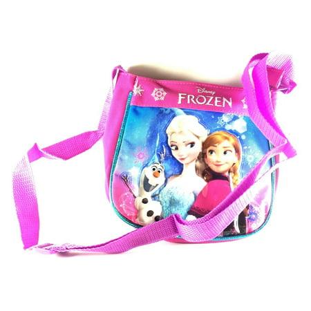 Disney Frozen Elsa Olaf & Anna Pink Passport/Cross-body/Purse/Handbag - Frozen Purse