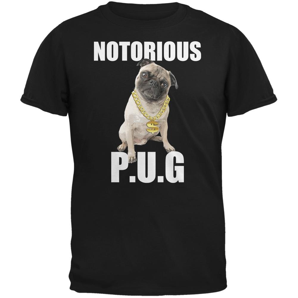 Notorious PUG Black Adult T-Shirt