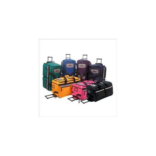 Luggage America SRD-26 26 Inch 8 Pocket Rolling Duffel - Black